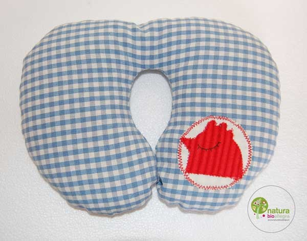 Cuscino poggiatesta 2-3 anni : colore blu