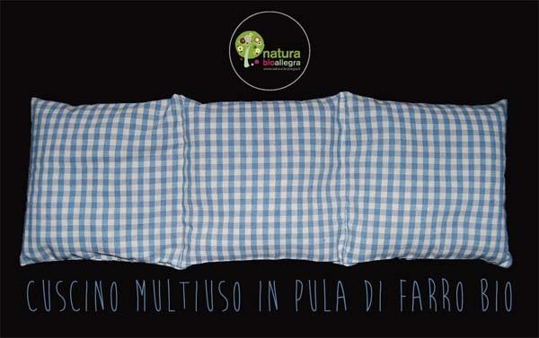 Cuscino Multiuso con pula di farro