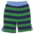 Pantaloncino reversibile: strisce verde-blu